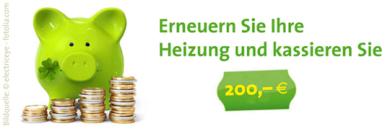200 € Bonus für neuen Heizkessel von Brötje, Buderus, Viessmann oder Wolf